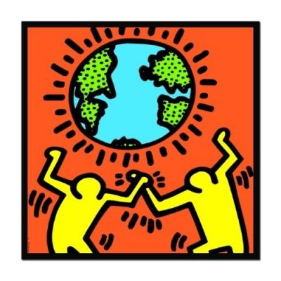 Educa Keith Haring, Világ puzzle, 1000 darabos