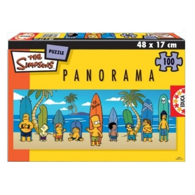 Educa Simpsons panoráma puzzle, 100 darabos