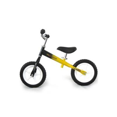 Futóbicikli, sárga-fekete színű